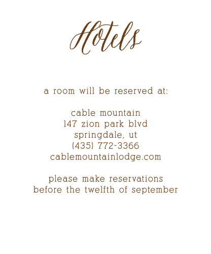Rustic Wood Accommodation Cards