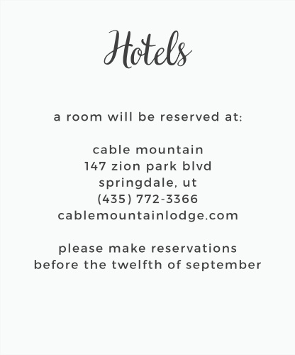 Garden Party Accommodation Cards