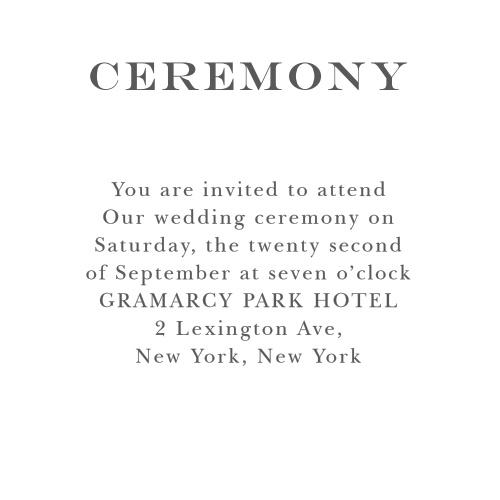 Elegant Script Ceremony Cards