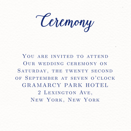 Watercolor Anemone Ceremony Cards