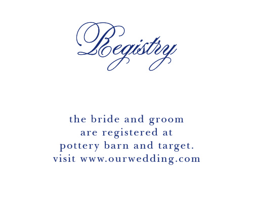 Preppy Stripe Registry Cards