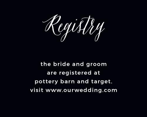 Modern Elegant Registry Cards