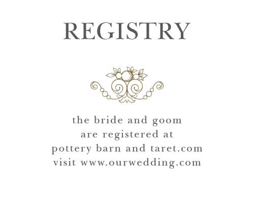 wedding gift registry cards