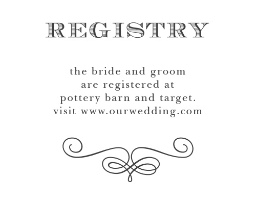 Fancy Chalkboard Registry Cards