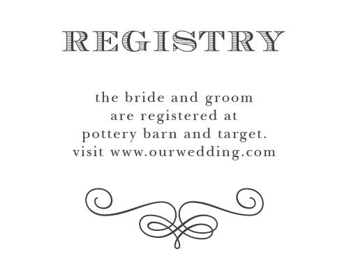 Fancy Chalkboard Registry Cards
