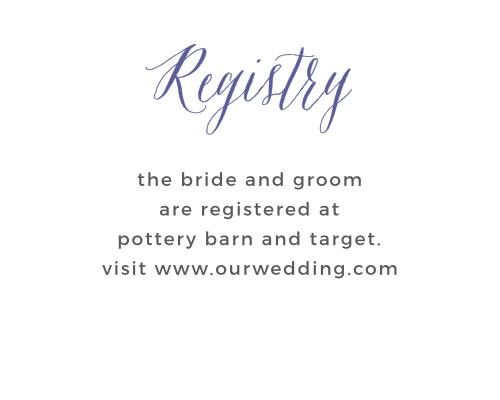 Rustic Script Registry Cards