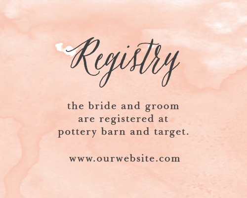 Watercolor Script Registry Cards