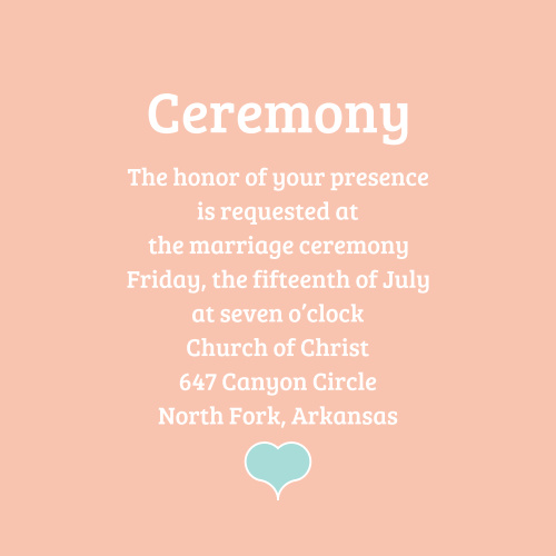 Water Colors Ceremony Cards