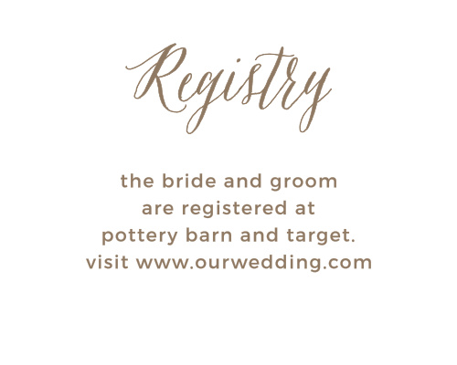 Rustic Ombre Registry Cards