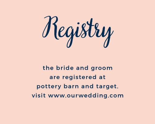 Modern Love Registry Cards
