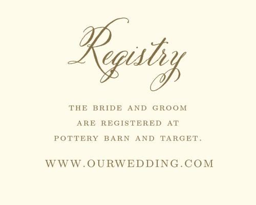 Romantic Vintage Registry Cards