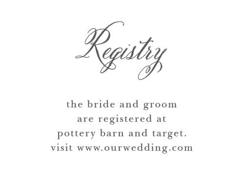 Calligraphy Script Registry Cards