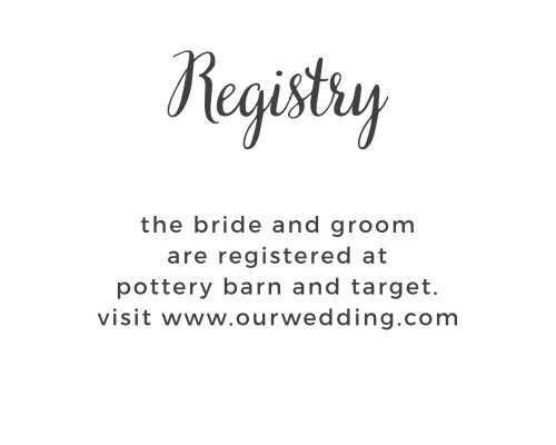 Garden Party Registry Cards