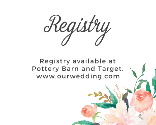 Blossoming Love Registry Cards