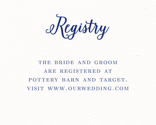 Watercolor Anemone Registry Cards