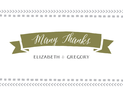Rustic Tribal Thank You Cards