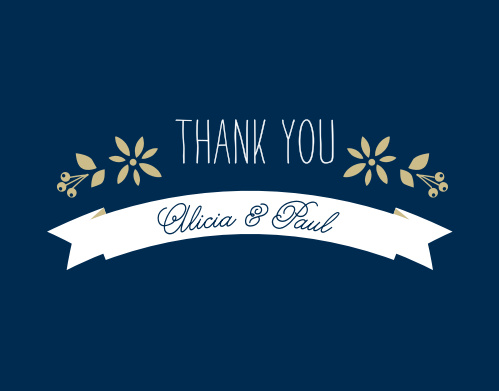 Folksy Floral Foil Thank You Cards