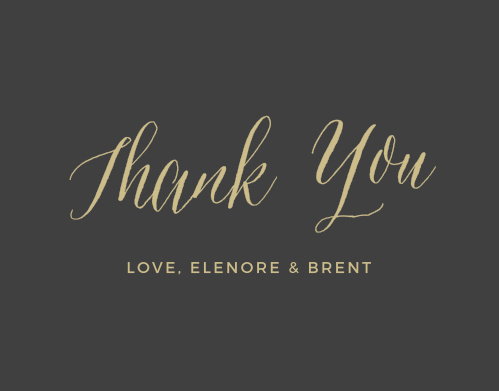 Rustic Script Foil Thank You Card