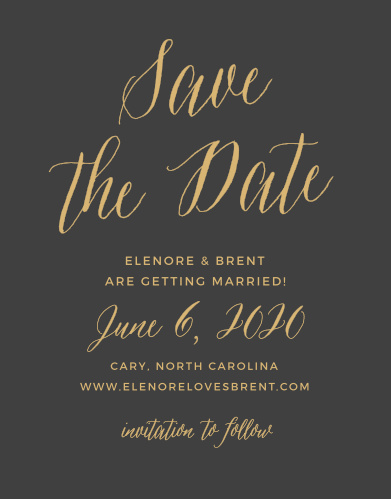 Foil Stamped Save The Date Cards Gold Silver Rose Gold Basic