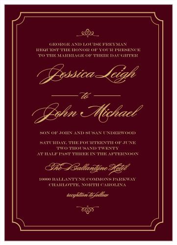 Elegant Script Foil Wedding Invitations By Basic Invite