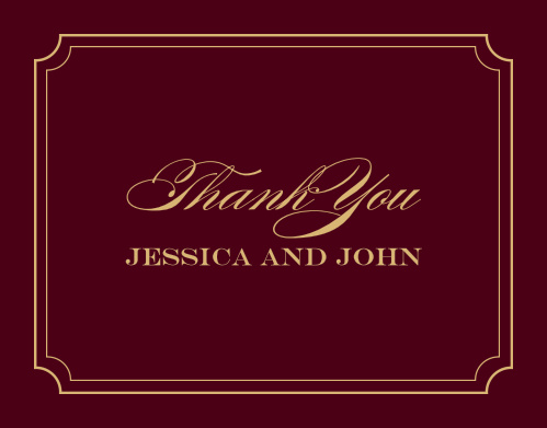 Elegant Script Foil Thank You Cards