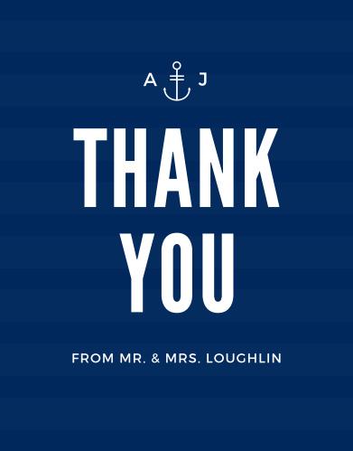 Modern Nautical Thank You Cards