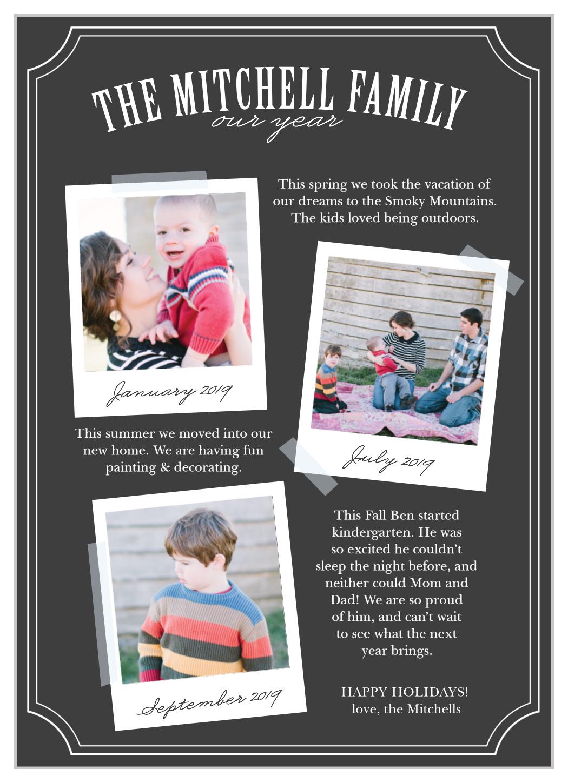 polaroid timeline holiday cards