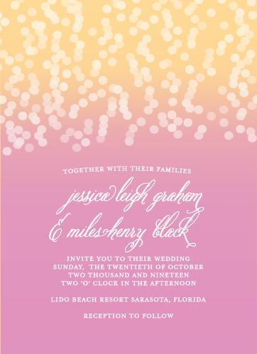 Confetti Ombre Wedding Invitations