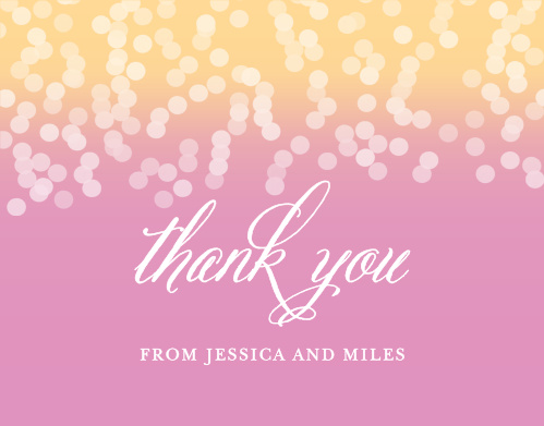 Confetti Ombre Thank You Cards