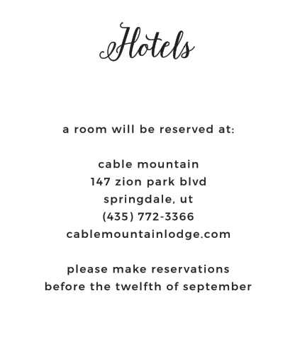 Floral Stripe Accommodation Cards