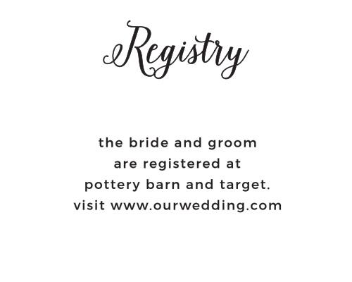 Floral Stripe Registry Cards