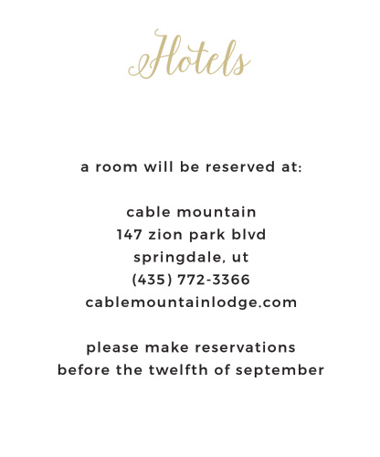 Floral Stripe Foil Accommodation Cards