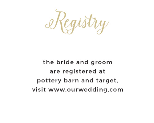 Floral Stripe Foil Registry Cards