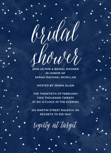 under the stars bridal shower invitations
