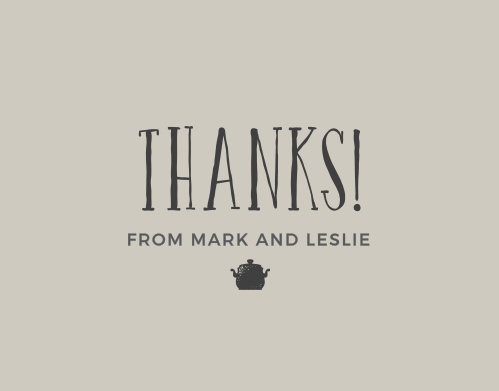 Stock the Kitchen Bridal Shower Thank You Cards