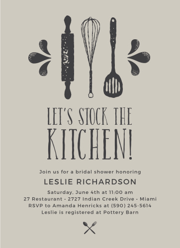 stock the kitchen bridal shower invitations