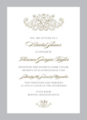 vintage damask bridal shower invitations