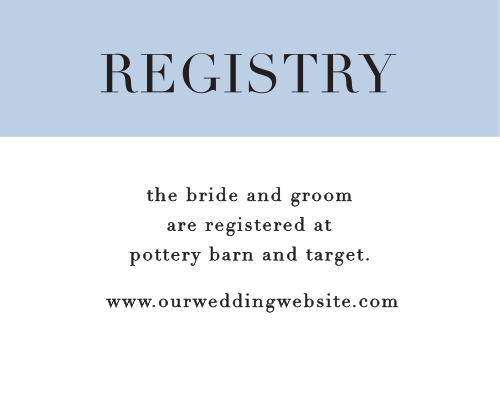 Mr. & Mrs. Registry Cards