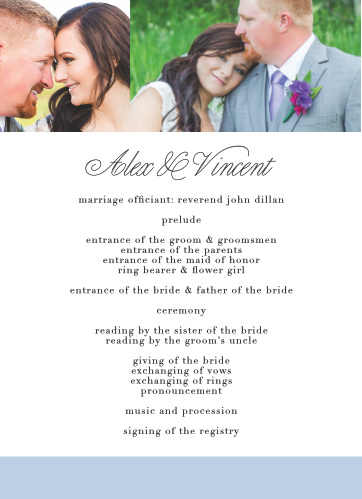 Mr. & Mrs. Wedding Programs