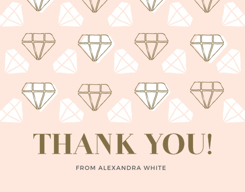 shes a gem bridal shower thank you cards