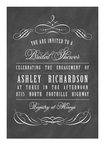 vintage ornamental bridal shower invitations
