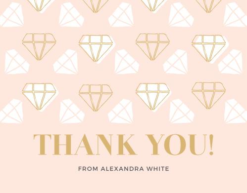 shes a gem foil thank you cards
