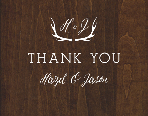 Rustic Wood Thank You Cards