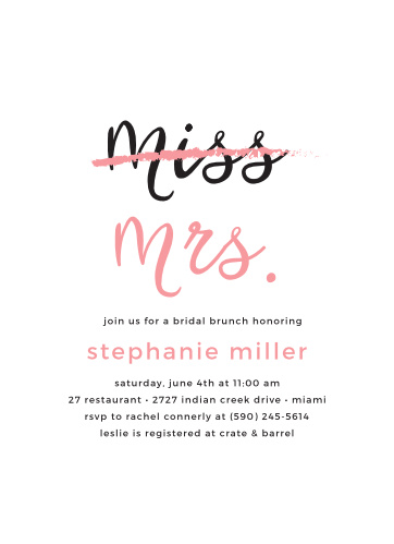miss to mrs bridal shower invitations by basic invite