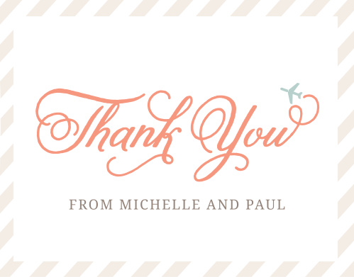 Cutesy Carry On Bridal Shower Thank You Cards