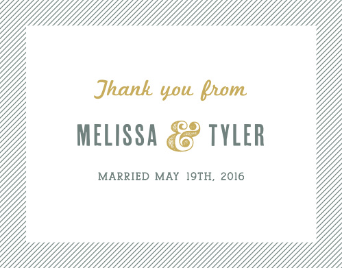 Snappy Slanted Border Thank You Cards