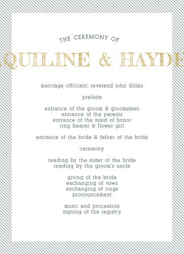 Snappy Slanted Border Wedding Programs
