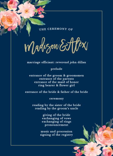 Standing Ovation Wedding Programs