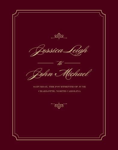Elegant Script Guest Book