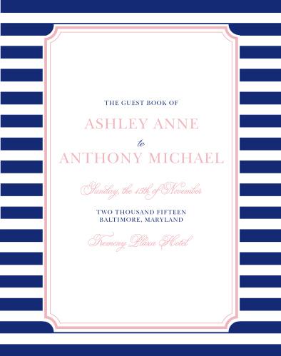 Preppy Stripe Guest Book